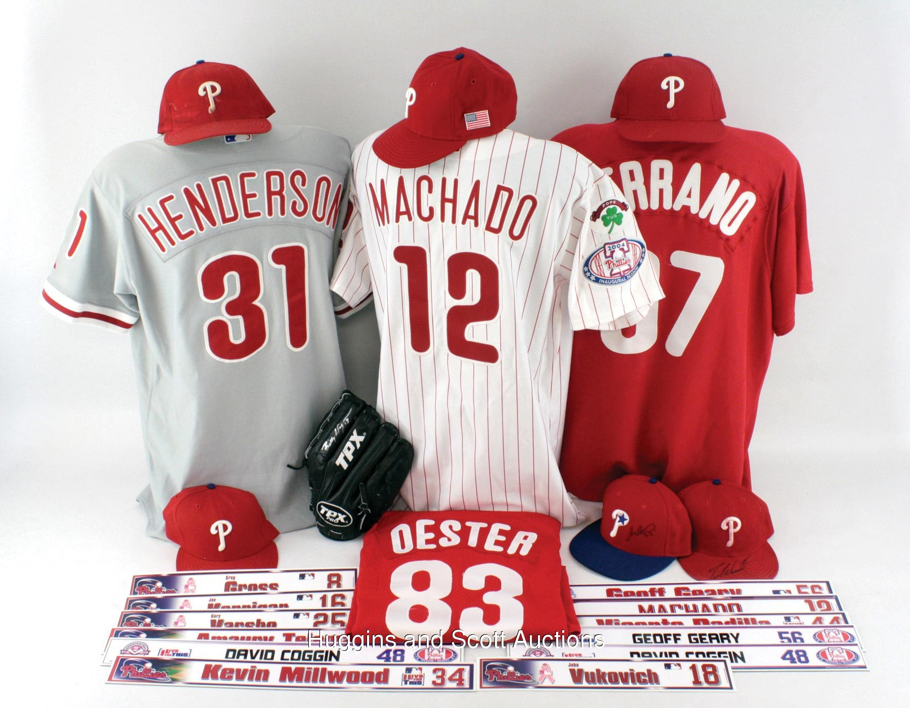 6639f6598c9 Post-2001 Philadelphia Phillies Game-Used Lot With (4) Jerseys